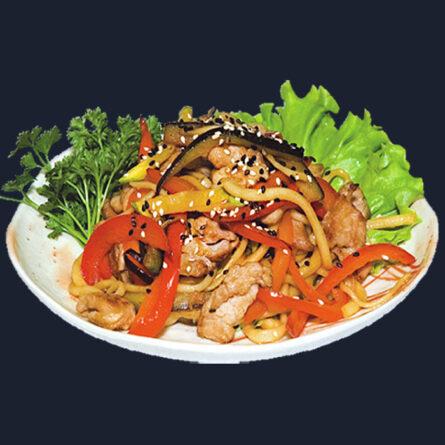Лапша со свининой и овощами с соусом Терияки 210 гр