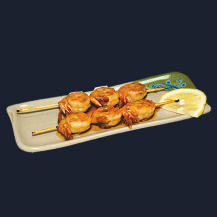 Шашлыки из креветок 100 гр